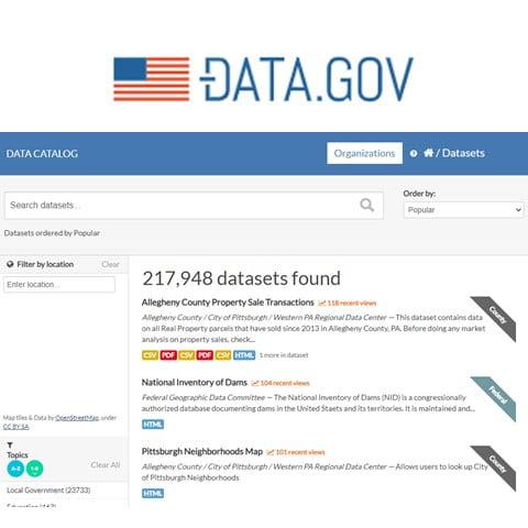 US Gov Open Data